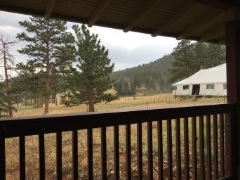 Rainy day viewed from the balcony.